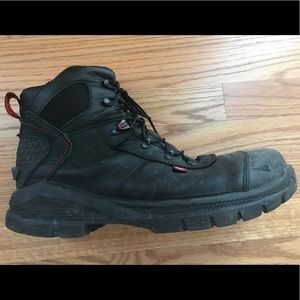 Red Wing protective-toed shoes